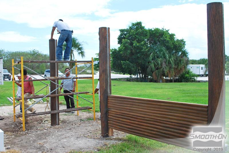How To Cast a Concrete Fence Which Exhibits Detail Never