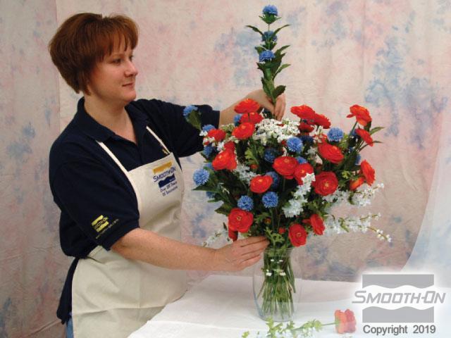 Step 1 arranging faux flowers and gathering material silk flower silk flower arrangements with encapso k mightylinksfo