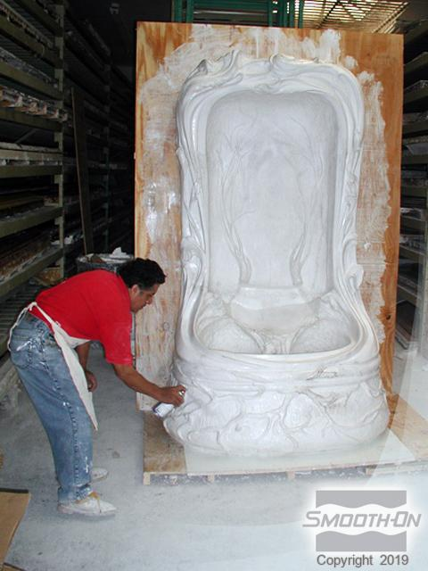 Using Ez Spray 174 45 Urethane To Make A Mold Of A Large Fountain