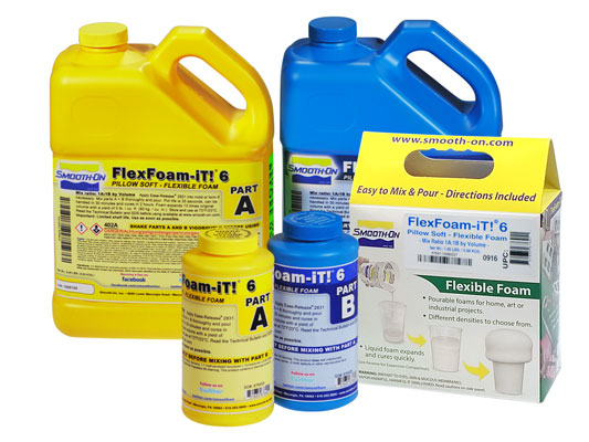 Ecoflex™ 5 vs. TASK™ 14 vs. FlexFoam-iT!™ 6 Pillow SoftEcoflex™ 5 versus TASK™ 14