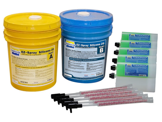 EZ-Spray® Silicone 20 vs. EZ-Spray® Silicone 22 vs. PC-3®EZ-Spray® Silicone 22 versus PC-3®