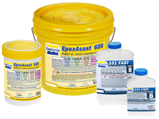 EpoxAcast™ 650 + 101 Hardener vs. EZ-Spray® Silicone 22 vs. EZ-Spray® FoamEZ-Spray® Silicone 22 versus EZ-Spray® Foam