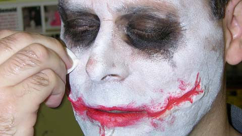 Making Joker Style Silicone Scar Appliances