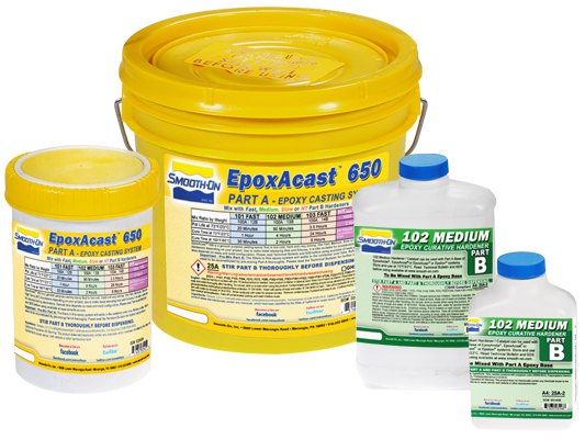 Ecoflex™ 5 vs. Smooth-Cast® ONYX™ FAST vs. EpoxAcast™ 650 + 102 HardenerEcoflex™ 5 versus Smooth-Cast® ONYX™ FAST