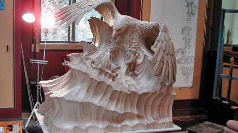 Molding and Rotocasting a Wooden Sculpture