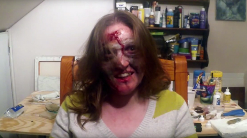 Creating a Zombie Makeup Using Silicone Rubber
