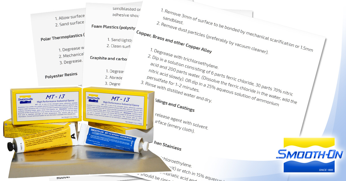 Preparation of Surfaces for Epoxy Adhesive Bonding