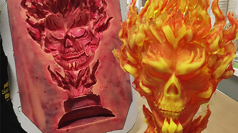 How To Mold and Cast a Resin Sculpture - Ghost Rider