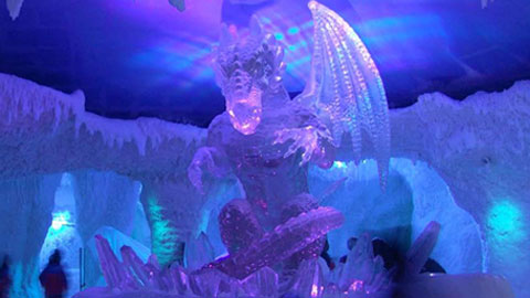 Ski Dubai Ice Dragon Display Created with Crystal Clear® Resin