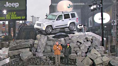 Themed Rock Display at New York Auto Show