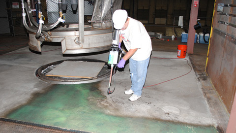 EZ-Spray® Silicone 20 Floor Coating Application