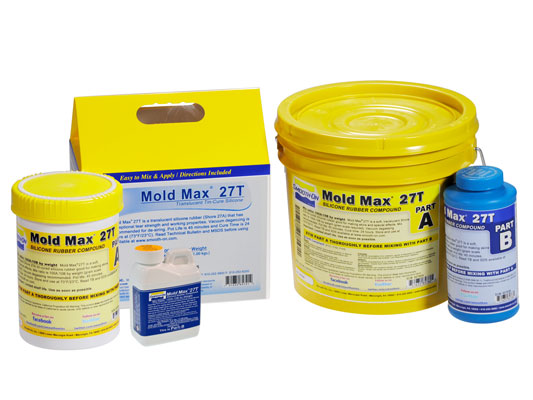 Mold Max™ 27T vs. Ecoflex™ 5 vs. Smooth-Cast® 310Ecoflex™ 5 versus Smooth-Cast® 310