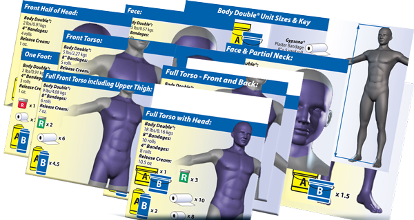 Body Double™ Silicone Visual Coverage Charts
