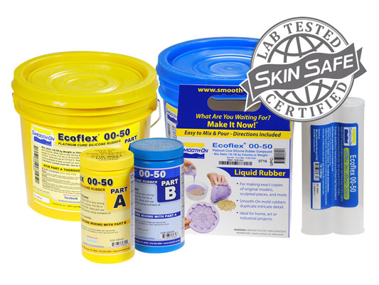 Ecoflex™ 00-50 vs. EZ-Spray® Silicone 22 vs. EZ-Spray® FoamEZ-Spray® Silicone 22 versus EZ-Spray® Foam