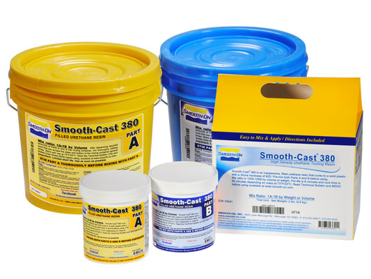 Smooth-Cast® 380 vs. EZ-Spray® Silicone 22 vs. EZ-Spray® FoamEZ-Spray® Silicone 22 versus EZ-Spray® Foam